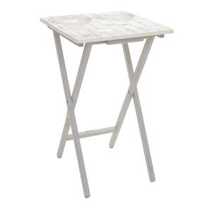 Стол-поднос серый дуб 40х64х40 см