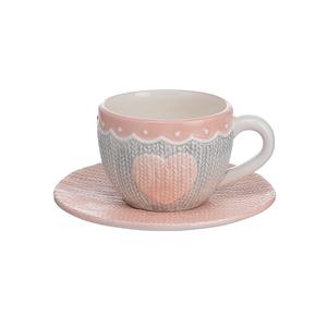 Керамическая Чашка с Блюдцем Изящный Бант
