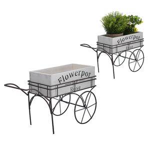 Кашпо-Тележка Flowerpot Белое