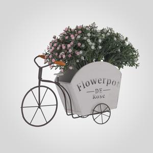 Кашпо-Велосипед Flowerpot White