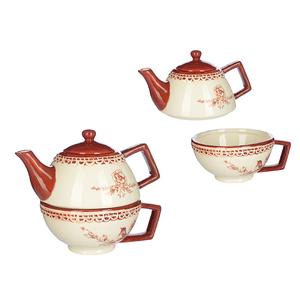 Набор чайник и чашка Дивная птичка