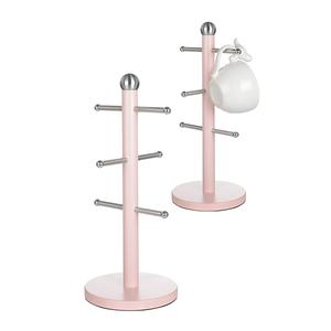 Подставка металлическая для чашек светло-розовая