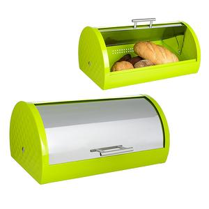 Металлическая Хлебница Фландерс Зеленая