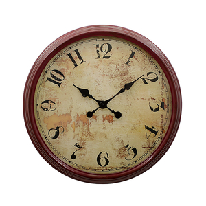 Часы Настенные в Вишневой Раме Винтаж