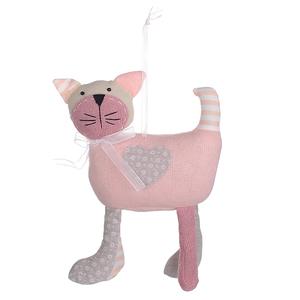 Котенок Пэтчворк Розовый