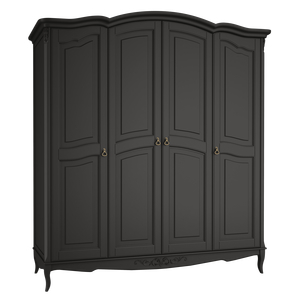Шкаф 4 двери Belverom Black (черный)