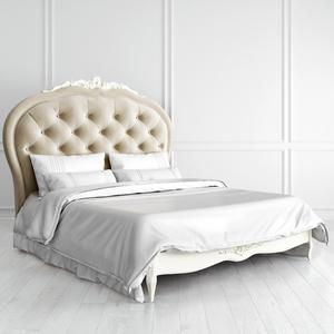 Кровать с мягким изголовьем 160*200 Romantic с резьбой