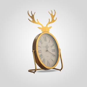 Часы Металлические Настольные Золотистые