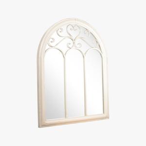 Зеркало - окно металлическое - Белый Ажур