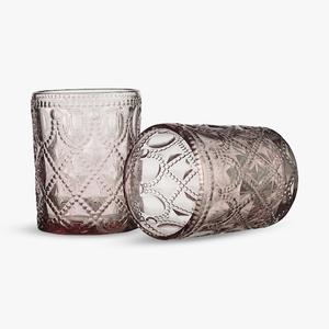 Бокал для Воды Арабский Розовый Орнамент 300 ml (набор 6шт)