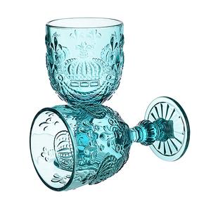 Бокал для Вина Яркий Бирюзовый Королевский 300 ml (набор 6шт)