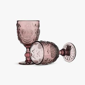 Бокал для Вина Розовый Королевский 300 ml (набор 4 шт)