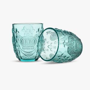 Стакан для Воды Яркий Бирюзовый Королевский 300 ml (набор 6 штук)