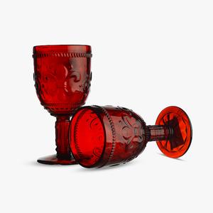 Бокал для Вина Дикая Красная Лилия 300 ml (набор 6шт)
