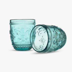 Стакан для Воды Дикая Бирюзовая Лилия 300 ml (набор 6 штук)