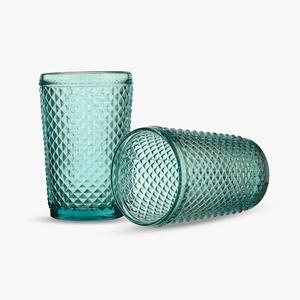 Стакан для Воды Бирюзовый Ромбик 300 ml (набор 6 штук)