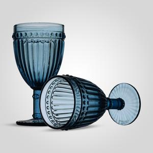 Бокал Стеклянный для Вина Синий (набор 6 штук)