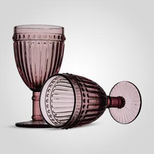 Бокал Стеклянный для Вина Розовый (набор 6 штук)