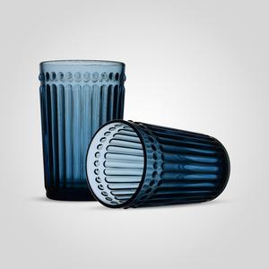 Стакан Стеклянный для Воды Синий Большой (набор 6 штук)