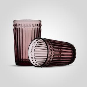 Стакан Стеклянный для Воды Розовый Большой (набор 6 штук)