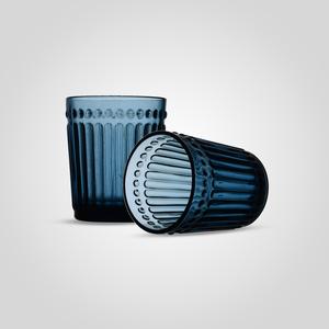 Стакан Стеклянный для Воды Синий Малый (набор 6 штук)