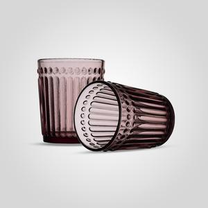 Стакан Стеклянный для Воды Розовый Малый (набор 6 штук)