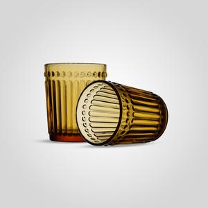 Стакан Стеклянный для Воды Желтый Малый (набор 6 штук)