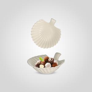 Конфетница-Волнистый Лист Керамическая Белая Большая