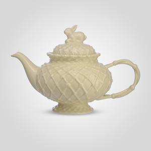 Чайник c кроликом фарфоровый Крем де ла крем