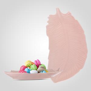 Блюдо-Перо Керамическое Розовое Большое