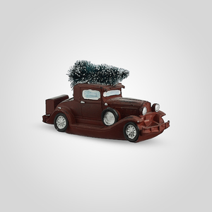 Машина Новогодняя с Елочкой (Полистоун)
