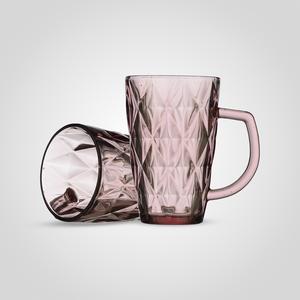 Набор стеклянных кружек Бриллиант, Розовый