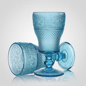 Набор из 6-ти Стеклянных бирюзовых Бокалов для Вина
