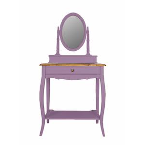 Макияжный столик с зеркалом Leontina, лавандового цвета