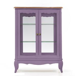 Стеклянная витрина Leontina (двойная), лавандовая