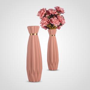 Ваза Напольная Керамическая Интерьерная Розовая