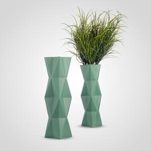 Ваза Напольная Керамическая Интерьерная Зеленая