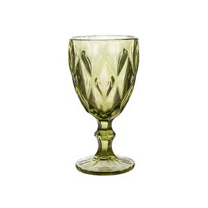 Бокал для вина зеленый Бриллиант (набор 6 шт)