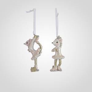 Елочные Подвески-Мышата Балерины набор 2 шт