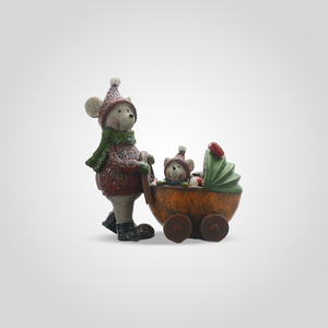 Мышка с Мышонком в Коляске (Полистоун)