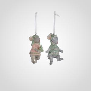 Елочные Подвески-Мышки набор 6 шт