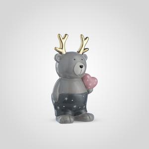 Новогодний Керамический Медвежонок с Сердечком