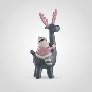Дед Мороз на Сером Олене (Керамика)