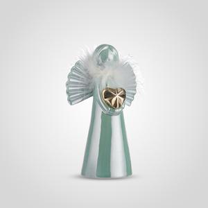 Ангел Керамический Декоративный Бирюзовый в Перьях (2шт)