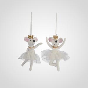 Елочные Подвески-Мышата Балерины набор 4 шт