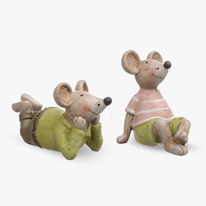 Мышки Мечтатели набор из 2-х шт. (полистоун)
