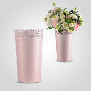 Резная Ваза-Кашпо Розовый Металл L