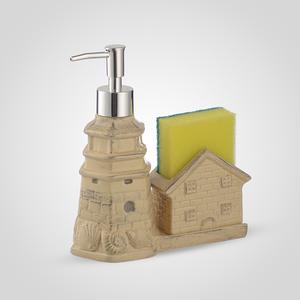 Керамический Диспенсер-Домик для Мыла/Жидкости для Мытья Посуды Желтый