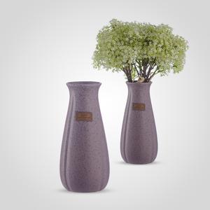 Ваза-Бутылка Керамическая Матовая Большая Фиолетовая