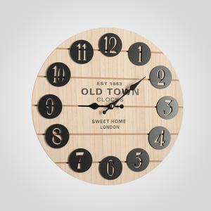 Часы Настенные с Черными Цифрами